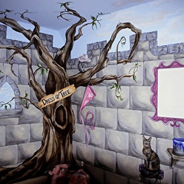 Dress Up Tree Mural